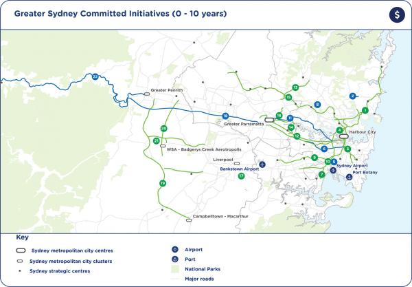 Figure 50: Committed initiatives (0-10 years) map