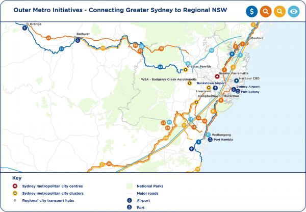 Figure 58: Connecting regional NSW to Greater Sydney