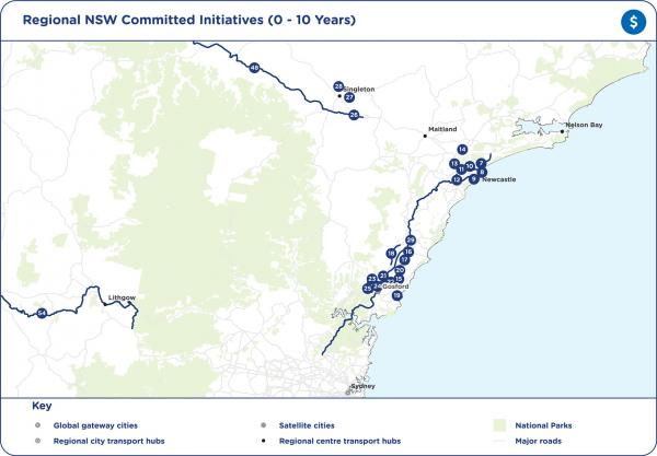 Figure 61 Regional NSW committed initiatives