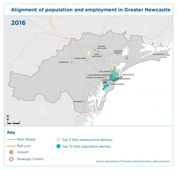 Figure_15 Alignment of population and employment in Greater Newcastle 2016