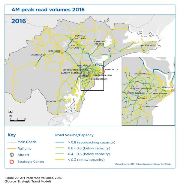 Figure 20 AM peak road volumes 2016