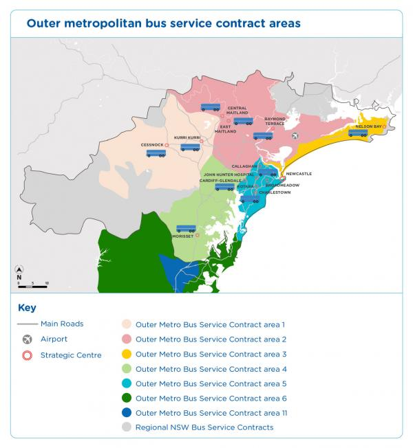 Figure 27 Outer Metropolitan Bus Contract areas