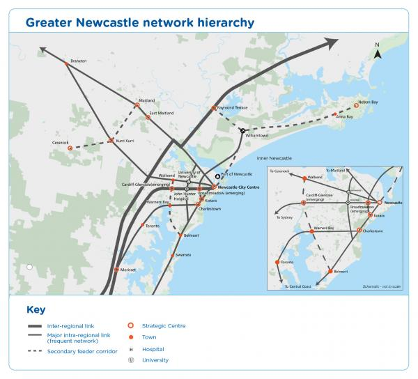 Figure 53 Greater Newcastle network hierarchy