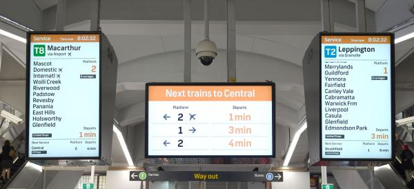 Figure 13: Real-time information display at Circular Quay train station