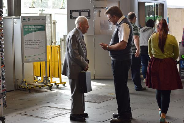 Figure 19: Staff assisting visitors at train stations