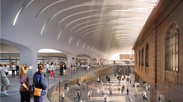 Figure 32: Artist impression of a potential upgrade to the Central Station precinct