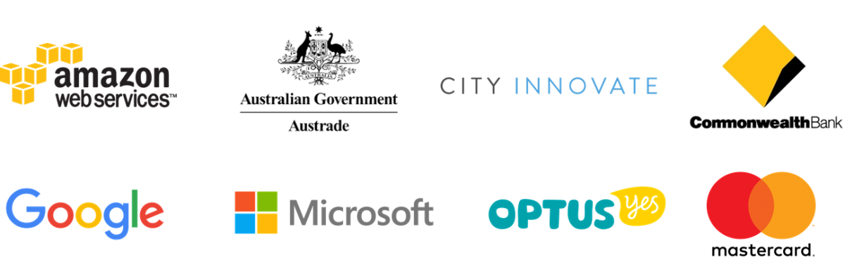Amazon Web Services, Austrade, City Innovation, Commonwealth Bank, Google, Mastercard, Microsoft, Optus