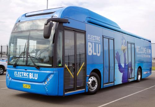 Figure 9 – Sydney Airport's 'Electric Blu' buses offer operating cost savings and a cleaner, smoother ride for passengers